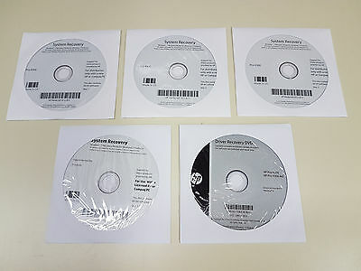 NEW Genuine HP Pro 4300 Windows 7 Pro SP1 x64 5-Disk System Recovery 681920-B22