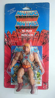 Masters of the Universe HE-MAN MOC Euro Karte + Case MOTU Rare