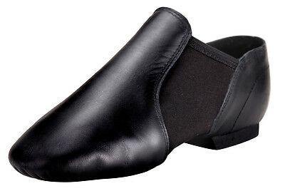 Pegasus Galaxy Black Leather Slip On Jazz Dance Shoes for Adult or Child
