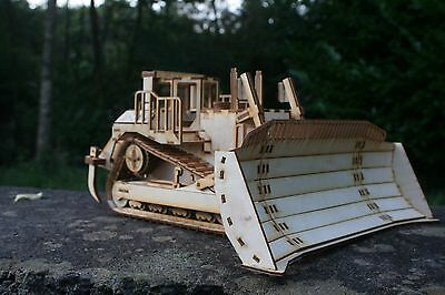 Laser cut wood wooden Model D11 Caterpillar Dozer 3d puzzle / Kit