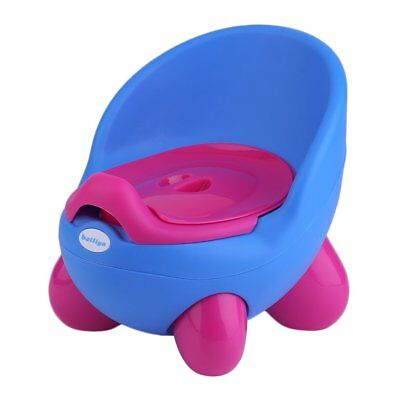 Removable Children Potty Chair Easy Clean Kids Toddler Training Toilet Seat Blue
