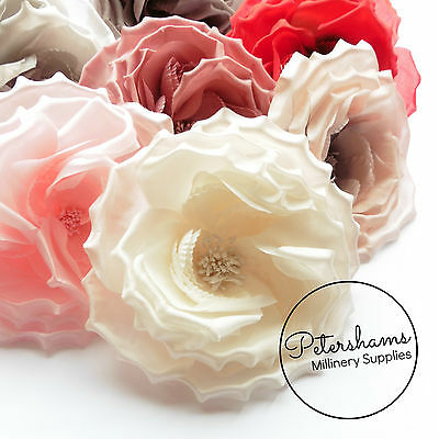 Silk 'Danielle' Large 15cm Rose Millinery Fascinator Flower Hat Mount Trim
