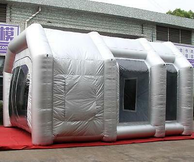 6x3x2.5m Oxford Cloth Foldable Inflatable Spray Paint Booth Tent Custom Made DH
