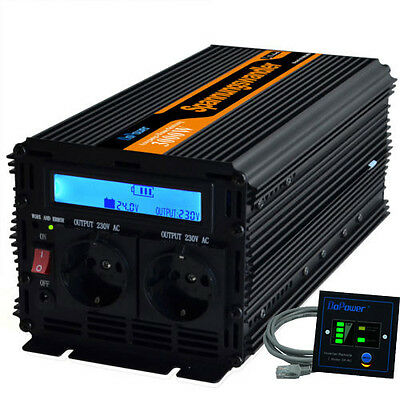 3000W 6000W DC 24V to AC 220V 230V Power Inverter Convertitore LCD Display