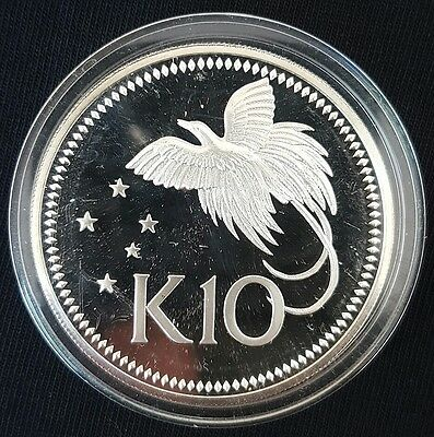 1976 Papua New Guinea 10 Kina Silver Proof Coin UNCIRCULATED....
