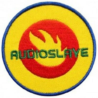 AUDIOSLAVE Flame Logo Embroidered Iron On Sew On Shirt Jacket Badge Patch