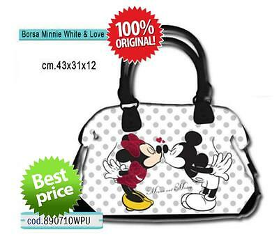 Borsa a spalla ecopelle MINNIE WHITE & LOVE Bianca - DISNEY