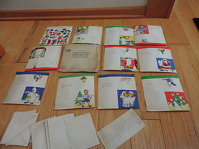 Vintage Christmas Card Make Your Own for Kiddie Children Kit (a171)