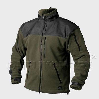HELIKON-TEX CLASSIC ARMY Jacket Fleece Olive Green/Black BL-CAF-FL-16 Helikon.