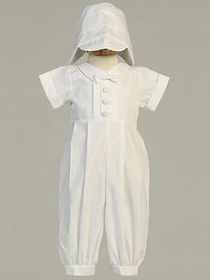 GARVIN Baby Boys Long White Cotton Christening Outfit 0-3m 3-6m 6-12m 12-18m