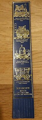 BOOKMARK Leather  BEAMISH OPEN-AIR MUSEUM LOCOS BLUE AND GOLD