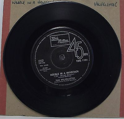 "THE VELVELETTES : NEEDLE IN A HAYSTACK 7"" Vinyl Single 45rpm Tamla Motown VG+"