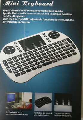 Mini Tastiera Wireless Wifi Keyboard Smart Tv Box Xbox360 Ps4 Touchpad 2.4G 3In1