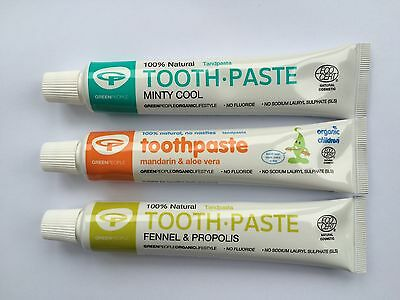 Green People natural toothpaste mandarin fennel mint flouride free One Planet