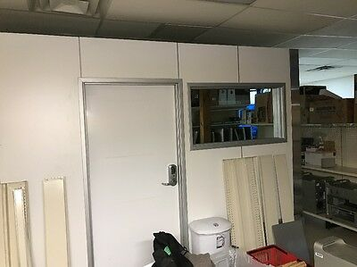 8' x 12' Modular Office 8' Tall With Windows And Door. Local Pick Up Only