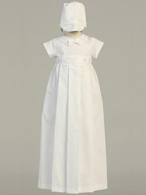 MASON White Cotton Christening Romper with Detachable Gown 0-3m 3-6m 6-12m 12-18