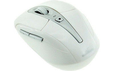 BLUESTORK MEDIA Mouse Blanc - Souris optique sans fil 2,4 Ghz