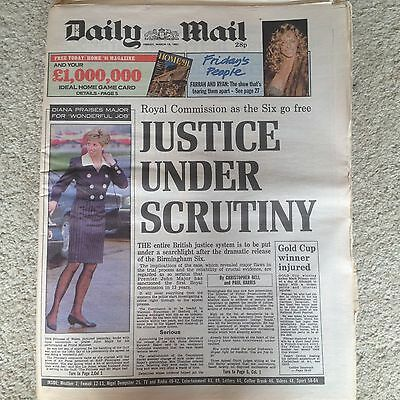 Daily Mail newspaper 15th March 1991 Princess Diana