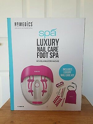 HoMedics Pink Luxury Nail Care Foot spa - READ DESCRIPTION