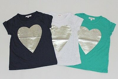 Brand New Seed Girls Heart Short Sleeve Shirts Size 1-2.2-3.3-4.4-5.5-6.6-7.8-9