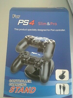 USB Dual Charging Dock caricabatteria gamepad joypad pr PlayStation 4 PS4 SCG