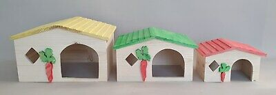 Hamster Wooden House Cage Accessories Degu Rat Rodents Rabbit Gerbil Home Mouse