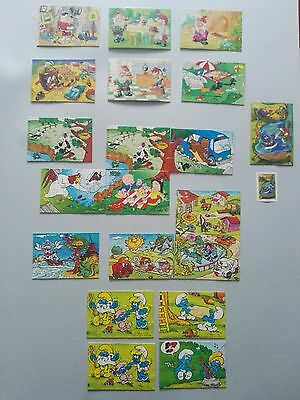 KINDER sorpresa surprise 20 puzzle looney tunes gnomi puffi etc - vintage