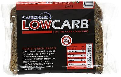Carbzone Low Carb Protein Rich Bread 250 g (Pack of 3) Natural,No Sugar Added