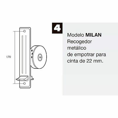 Recogedor Persiana Metal Sin placa Frente Natural