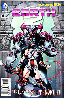 DC Comics EARTH 2 2013 #8A VF/NM Fury of Steppenwolf