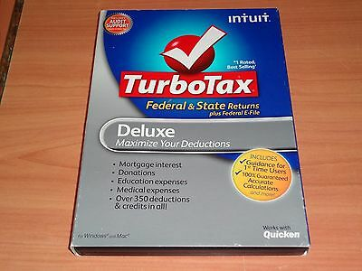 LOOK  *New Sealed* 2011 TURBOTAX DELUXE CD TURBO TAX CD for FEDERAL RETURN