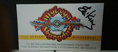 Lynyrd Skynyrd Bill Graham Ed King SIGNED from band mbr wife
