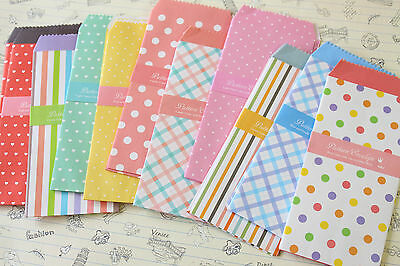 Sweet Pattern Tall Envelopes Set kawaii colorful hearts love letter stationery