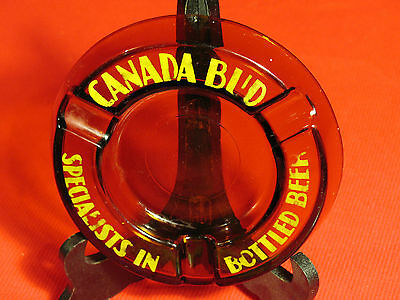 Ash Tray Vintage Canada Bud Specialists In Bottled Beer Glass