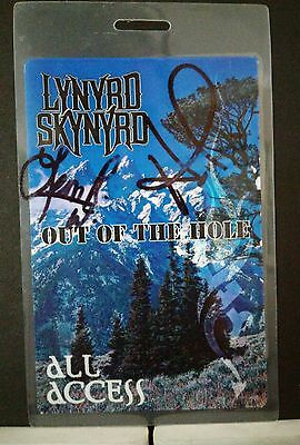 Lynyrd Skynyrd ORIGINAL MEMBER Leon Wilkeson SIGNED Laminate from band mbr wife