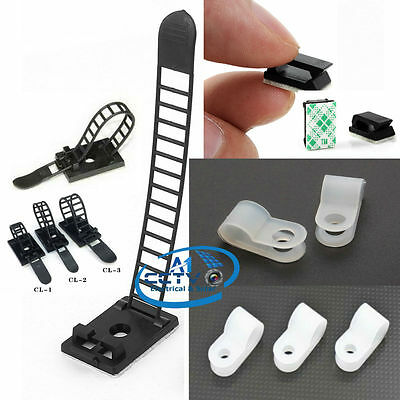 P-Clip Car Cable Clip CL2 2.5/2CM Self-Adhesive Adjustable Cable Tie Organizer