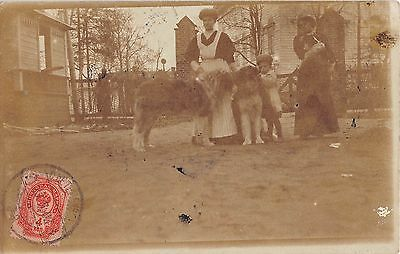 Cpa Russie Carte Photo Situee Au Verso Les Iles Petersbourg