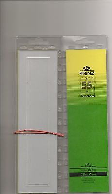 PRINZ STAMP MOUNTS CLEAR 55 mm STRIPS x25 IN PACK