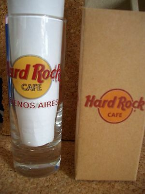 HRC Hard Rock Cafe Buenos Aires Shot Glass Shotglass Schnapsglas Red Letter