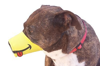 HAPPY Funny Smile Dog Muzzle * Size XS - XXL  * FREE SHIPPING