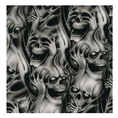 0.5 x 2m Hydro Dipping Hydrographics Water Transfer Film Skull Printing #1