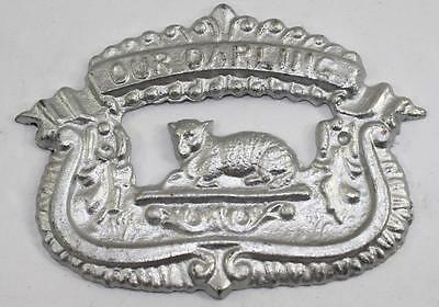 "c.1910 Parsons ""Our Darling"" Coffin Casket Plaque from Funeral Museum Auction *B"
