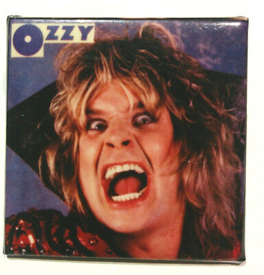 VINTAGE OZZY OSBOURNE 80's Pin Button Made in Canada