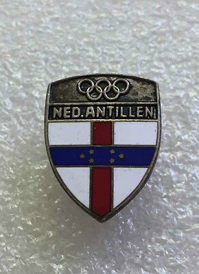 Very Rare Vintage Olympic pin NOC NETHERLANDS ANTILLES 1960 enamel screw