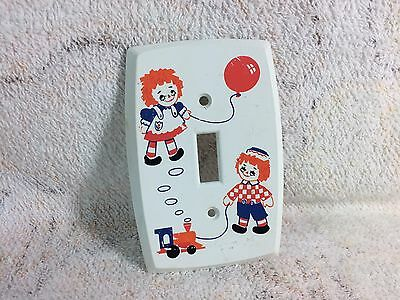 Raggedy Ann And Andy Light Switch Cover Plastic Canada Dolls Vintage Light Plate
