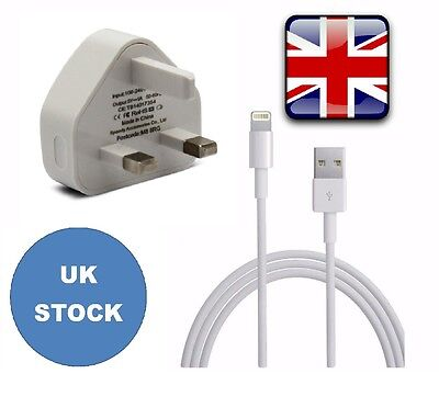 Mains Charger USB Plug / Charging Data Cable For iPhone 6,7,5,ipad,Air,Mini,ipod