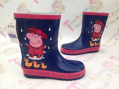 M&S Marks And Spencer Peppa Pig Girls Wellies UK 12 - BNWT