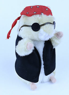 "Dancing Biker Hamster ""Born to be Wild"" Music Player Stuffed Animal Bandana"