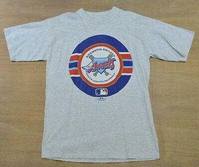Anaheim Angels - Size L - Vintage Nutmeg 90's MLB Baseball T-Shirt - Los Angeles