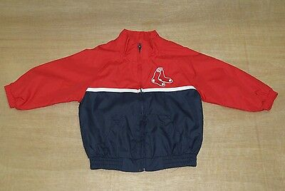 Boston Red Sox - Babys 12 Months Old - MLB Baseball Windbreaker Top Track Jacket